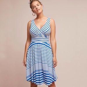 Anthropologie | Maeve | Kythira Striped Dress